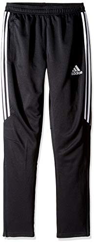 adidas Youth Soccer Tiro 17 Pants, Large - Black/White/White