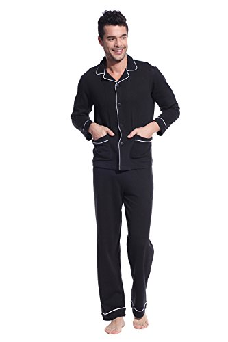 Godsen Men's Cotton Sleepwear Pajama Pants and Top Set