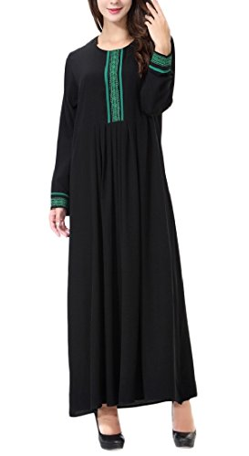 Coolred Green Long Dress Style Long Classics Pencil Sleeve Women Muslim Folk rfgw4xvrPq