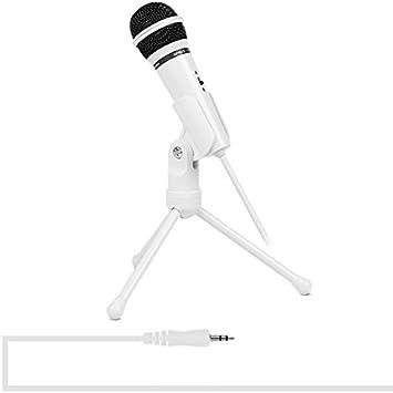 Compatibile con PC e Mac per Live Broadcast Show Color : Black Lunghezza Cavo: 2,0 m con Supporto per treppiede OPNIGHDYMD Microfono a condensatore KTV