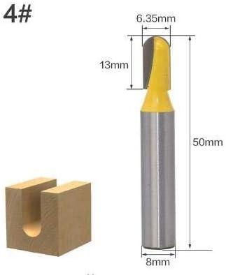 ZZB-ZT, 1 stück 8mm Schaft Ball Nose Core Box Holz Fräser Hartmetall Lange Klinge Holzbearbeitung Fräser Fräser (Size : NO 3)
