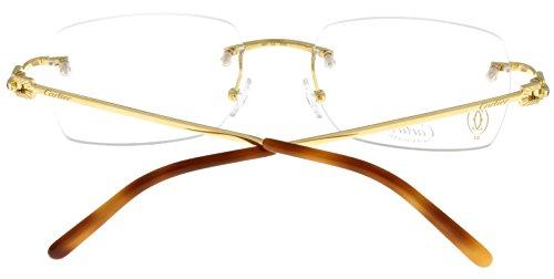 Cartier Prescription Eyeglasses Frame 18K Gold T8120193 Rectangular ...
