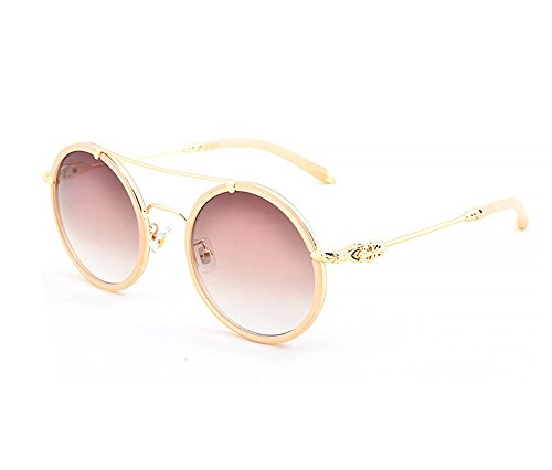 Ms. retro sunglasses round metal frame sunglasses (Oval Glasses Cartier)