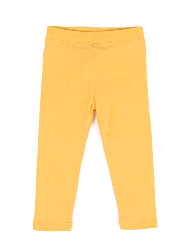 Leveret Solid Girls Legging Yellow (14 Years) -