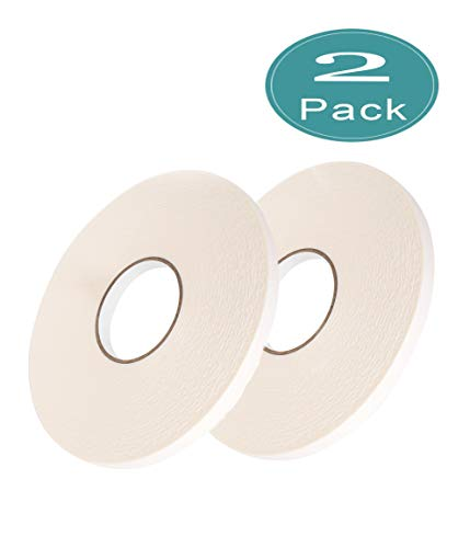 """Double Sided White PE Foam Mounting Adhesive Tape 1//2/"""" Wide x 36 1 1 mm/"""" Thick"""