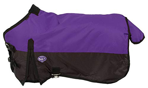 (Tough 1 600D Waterproof Poly Miniature Turnout Blanket, Purple, 38