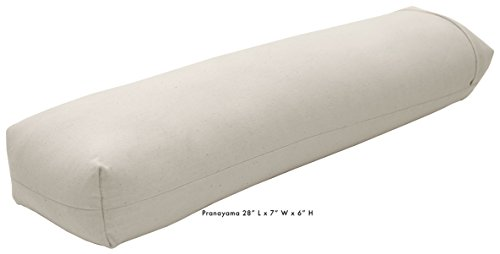 Best Yoga Bolster Rectangle or Round Support Cushion, Meditation Zafu Massage Prop, Organic Cotton, Cotton, Hemp Yoga Studio Vinyl – 3 Shapes – Made In USA By Bean Products (Natural, - Shape Usa Of The