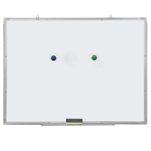 "Single Sided Dry Erase Framed (Crazyworld Single Sided Magnetic Dry Erase Board, Aluminum Frame with a Maker, an Eraser& 2 Magnetic Grains (35.43"" x 23.62""))"
