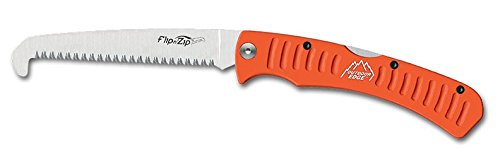 Outdoor Edge Hunting Flip N' Zip Compact Folding Pocket Saw for Bone, Meat, Wood, Trees and Pruning, 4.4