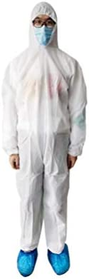 yunyun 1PC Disposable Protective Coverall Suit Non-Woven Antistatic Clothing for Isolation