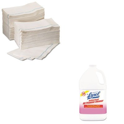 KITKIM06280RAC74392 - Value Kit - KIMBERLY CLARK WYPALL X80 Foodservice Paper Towel (KIM06280) and Professional LYSOL Antibacterial All-Purpose Cleaner (RAC74392)