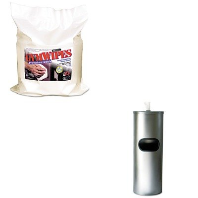 KITTXLL38TXLL65 - Value Kit - Stainless Steel Stand Without Door (TXLL65) and Gymwipes Professional Wipes Refill (TXLL38)