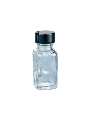 Kimble Type III Soda-Lime Glass Clear Wide-Mouth French Square Bottles without Caps, 15ml Capacity (Case of 576) ()