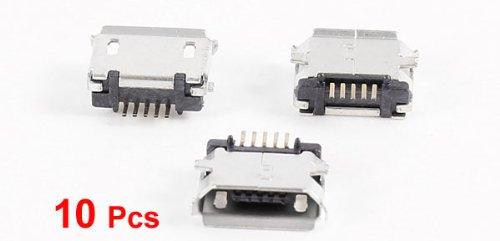 Buy micro usb type b female socket 180 degree 5-pin smd smt