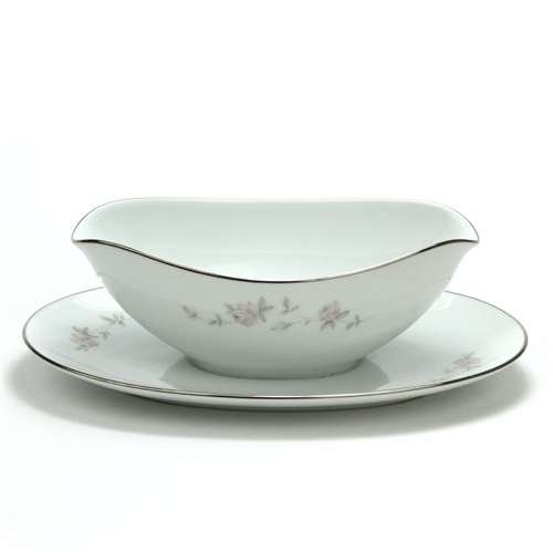 Noritake China Gravy Boat - Bellemead by Noritake, China Gravy Boat, Attached Tray