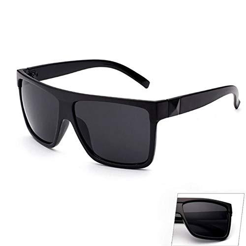Gafas Grande tamaño Hombre Retro Marco Unisex con HD Sol de conducción Mujer Gran UV400 de Sol Cool Gafas Gafas de de de para Pareja de Sol de para White Negro Black Ultravioleta So Estilo x0nqUPwYO