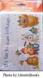 Tender Thoughts 8 count Birthday Party Invitation