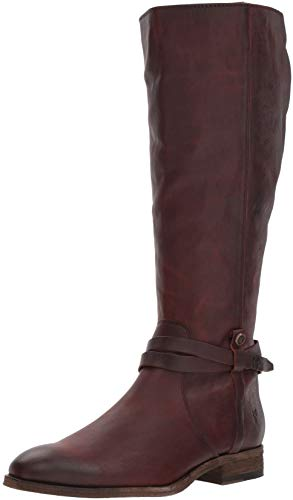 FRYE Women's Melissa Belted Tall Knee High Boot, Redwood Extended