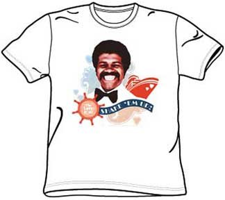 The Love Boat SHAKE EM UP ISAAC White Adult T-shirt Tee Shirt, 2XL -