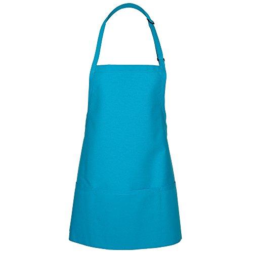 3 Pocket Bib Apron (Fame Adult's 3 Pocket Bib Apron-Turquoise-O/S)