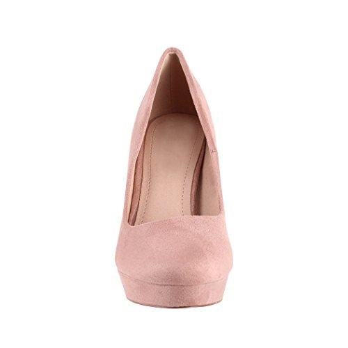 scarpe Elara da con alto tacco donna con pump Beige Milan stiletto a plateau trxrqfw6