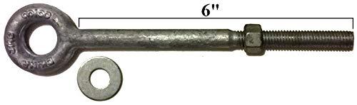 1//2 x 12 Eye Bolts, 2 pk. Eye Bolt Eye Bolts 2.5 to 12 Drop Forged//Hot Dipped Galvanized Steel Eye Bolt Eyebolt