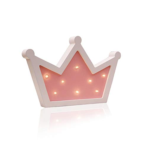 (Sweet FanMuLin Crown LED Light Wall Decor, Queen Princess Kings Shaped Sign-Lighted,Crown Decor for Birthday Wedding Party, Christmas, Kids Room, Living Room Decor (Pink))