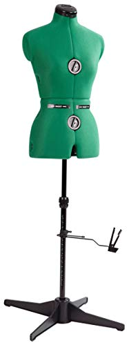 "Dritz 20420 Sew-You Dressform with Tri-Pod Stand Adjustable Up to 63"" Shoulder Height, Small, Opal Green"
