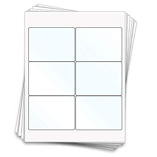 60 Printable Clear Gloss Beer Bottle Sheet Labels, 4x3 inches, Clear Gloss Inkjet Homebrew]()