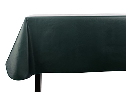 Yourtablecloth Heavy Duty Vinyl Rectangle or Square Tablecloth – 6 Gauge Heavy Duty Tablecloth – Flannel Backed – Wipeable Tablecloth with vivid colors & many sizes 52 x 70 Hunter Green