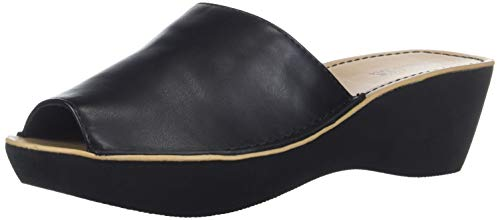 (Kenneth Cole REACTION Women's Fine Mule Platform Slide  Sandal, Black, 9 M US)