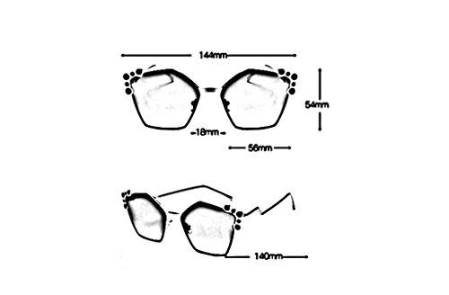 Protección de sol 3 Color sol UV Gafas Gafas Mujer 1 Gafas Retro de 100 xgIZFqB8