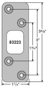 Kwikset 83223-690 Venetian Bronze Strike Plate Deadbolt Round Corner Strike 83223