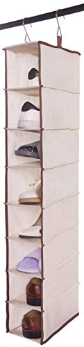 Amelitory 8 Shelf Hanging Shoe Shelves Organizer Shoe Holder for Closet - Shelf Organizer Hanging 8