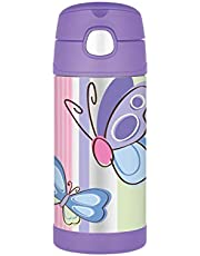 Thermos FUNtainer Insulated Drink Bottle, 355ml, Purple Butterfly, F4012BF6AUS