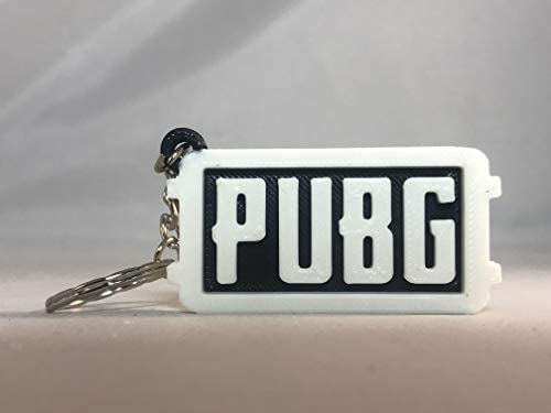 PUBG Llavero Blanco Sobre Negro con símbolo de Pan en el ...