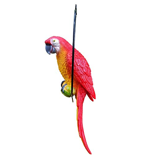 (S&F Life Size Hanging Parrot Statue Like a Real Parrot Patio Lawn Ideal Decor for Nature Lovers Tropical Bird Collectors (Big)