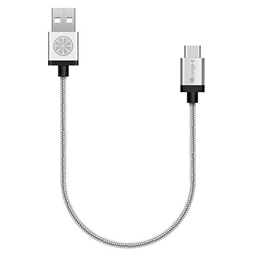 Type-C-iOrange-E-USB-C-to-USB-1ft-Braided-Cable-for-Nexus-6P-5X-2015-Apple-Macbook-12-ChromeBook-Pixel-OnePlus-2-Lumia-950-LG-G5-Nokia-N1-Nextbit-Robin-and-Other-USB-C-Devices-Silver
