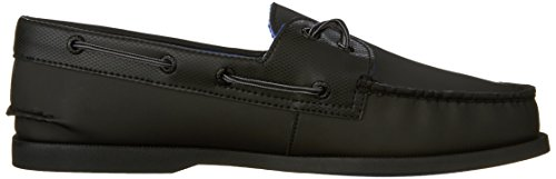 Sperry A/O 2-Eye Leather 0195214 - Mocasines de cuero para hombre Negro