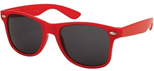 Sunglasses Classic 80's Vintage Style Design (Red) ()