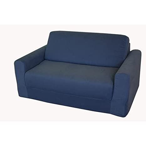 Fun Furnishings Kids Sofa Sleeper, Denim