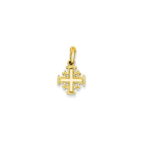 Roy Rose Jewelry 14K Yellow Gold Jerusalem Cross Charm by Roy Rose Jewelry
