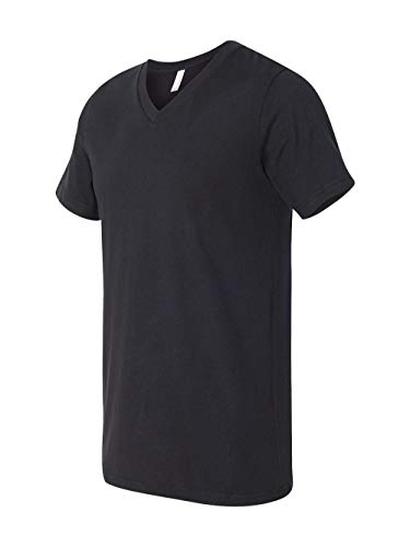 Bella + Canvas Unisex Jersey Short-Sleeve V-Neck T-Shirt, XL, VINTAGE BLACK from Bella