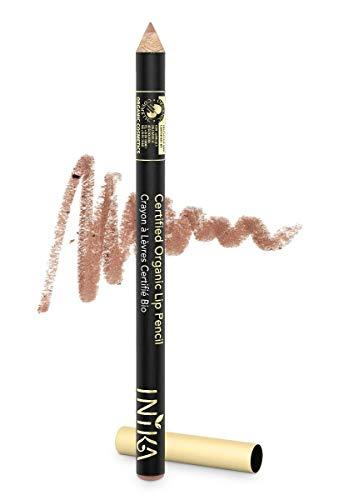 INIKA Certified Organic Lip Liner Pencil, All Natural Formula, Vegan, Rich, Creamy Formula, Halal,1.2g (Nude Delight)