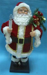 Let it Snow Collection 2 Foot Tall Festive Christmas Holiday Figurines - Animated and Illuminated - Santa naturally home