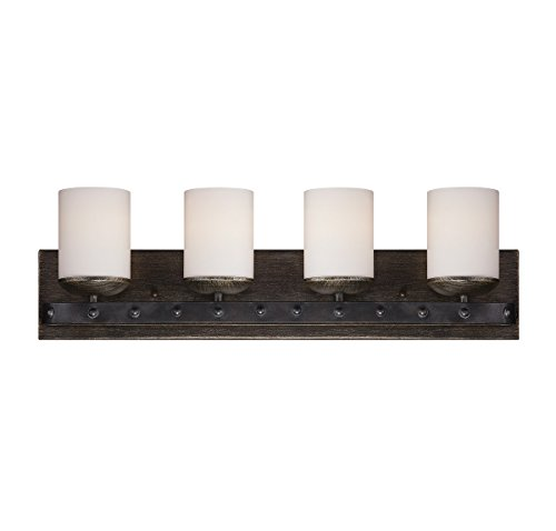 Savoy House 8-9542-4-196,  Alsace 4-Light Bath Bar, Reclaimed Wood