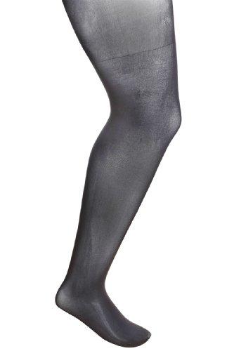 Plus Size Womens Opaque Xceptionelle 20d 3d Ladder Resistant Tights Size 28-32 Black
