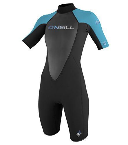 O'Neill Wetsuits Women's Reactor 2mm Short Sleeve Back Zip Spring - Wetsuit Ladies