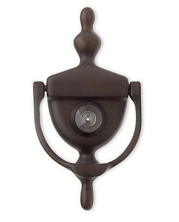 (Deltana DKV630U10B Door Knocker with Viewer 1-3/4-Inch Max Door Thickness by Deltana)