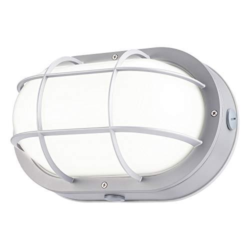 LEONLITE LED Marine Oval Bulkhead Light, 20W (120W Equivalent), Energy Star, 5000K Daylight White Outdoor Wall Light For Sale